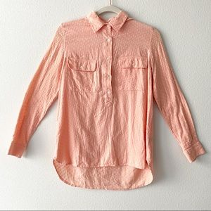 Madewell Market Popover Swiss Dot Top Blouse